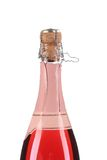 Start opening pink champagne bottle. Stock Images