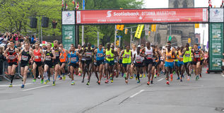 Start of Ottawa Marathon Royalty Free Stock Images