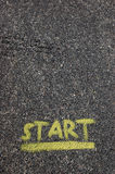 Start Painted at Pavement Royalty Free Stock Image