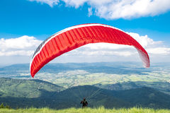 Start of paraglider Royalty Free Stock Images