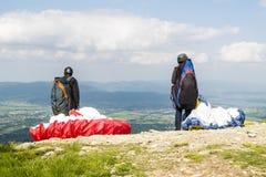 Start paragliding Royalty Free Stock Image