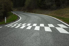 Start pattern on the country road Stock Image