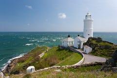 Start Point Lighthouse. The 1836 lighthouse at Start Point Devon England UK Stock Photography