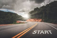 Free START Point On The Road Of Business Or Your Life Success. The Beginning To Victory Stock Image - 148044371