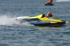 Start position at motorboat wm royalty free stock photos