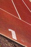 start position on tartan track Stock Photography