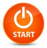 Start (power icon) elegant orange round button Royalty Free Stock Photos