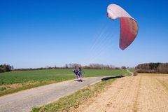 Start powered paraglider Royalty Free Stock Image