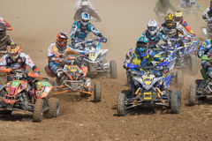 Start of qualifying practice in the quad race Stock Image