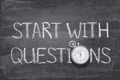 Start with questions watch stock photography