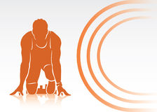 Start of race. Vector illustration of runner with place for text Stock Images