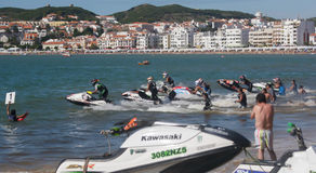 Start of race in Gran Prix of Jet Ski Royalty Free Stock Images