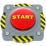 Start red button Stock Photo