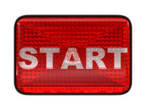 Start red button or headlight Stock Photography