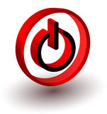 Start red sign. Web icon,  sign,3d Stock Images
