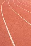 Start Red, White Running Track Background Royalty Free Stock Images