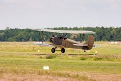Start Retro vliegtuig Royalty-vrije Stock Foto's