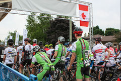 Start of a Road Cycling Race Stock Photography
