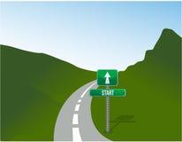Start road illustration design over a landscape Stock Photo
