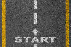 Start on the road Royalty Free Stock Photography