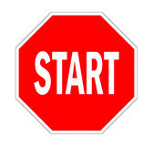 start road sign Royalty Free Stock Photos