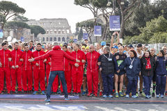 The start of the Rome marathon in 2016 Stock Photography
