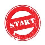 Start rubber stamp vector illustration