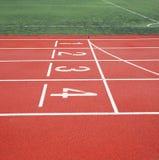Start of running track Stock Images