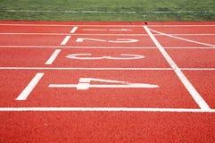 Start of running track royalty free stock photo