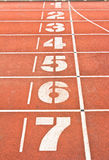 Start running track Royalty Free Stock Photo