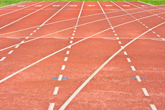 Start running track rubber Stock Photos