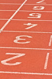 Start running track rubber Royalty Free Stock Images