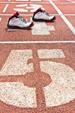 Start running track rubber standard Stock Photography