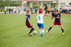 Start of Russia championship on female soccer Royalty Free Stock Photos