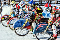 Start. Russia. The Republic Of Bashkortostan. The Ufa. Racing on ice. The Championship Of Russia. A final . February 1, 2014 Stock Photography
