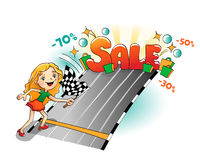 Start of sale Stock Image