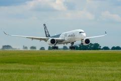 Start samolot Aerobus A350 XWB Obraz Royalty Free