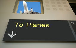 start samolotu Zdjęcie Royalty Free