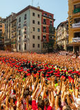 Start of San Fermin feast Stock Image