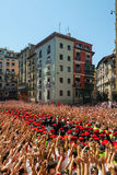 Start of San Fermin feast  in Pamplona, Spain Stock Photography
