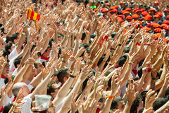Start of San Fermin festival Royalty Free Stock Photography
