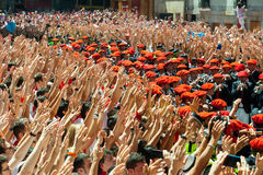 Start of San Fermin festival  in Pamplona Royalty Free Stock Images