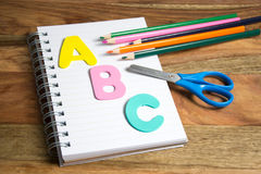 Start of the school year. Symbol for first day of school Stock Images