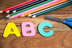 Start of the school year. Symbol for first day of school Stock Image
