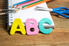 Start of the school year. Symbol for first day of school Stock Photos