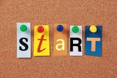 Start Single Word Royalty Free Stock Photo