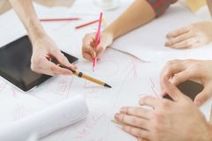 Start-, Sitzungs-, Diskussions- und Gruppenkonzept Lizenzfreie Stockfotos