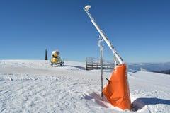 Start of the ski slopes Stock Images