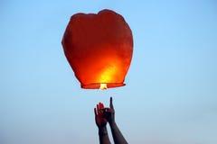 Start in the sky paper fire lantern