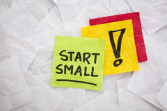 Start small advice Royalty Free Stock Images